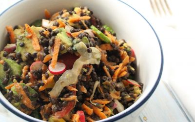 Black Lentil Salad with Garlic Cider Dressing
