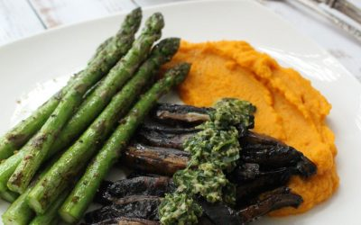 "Portobello ""Steak"" with Chimichurri Sauce"