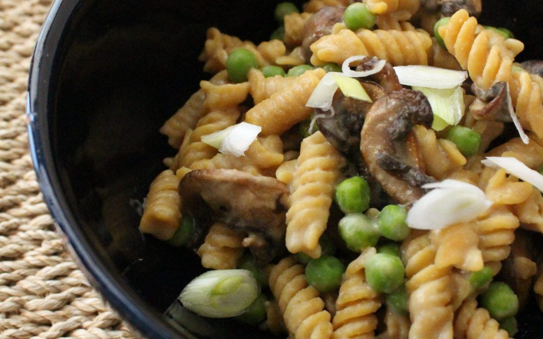 Chickpea Pasta with Tahini Miso Sauce