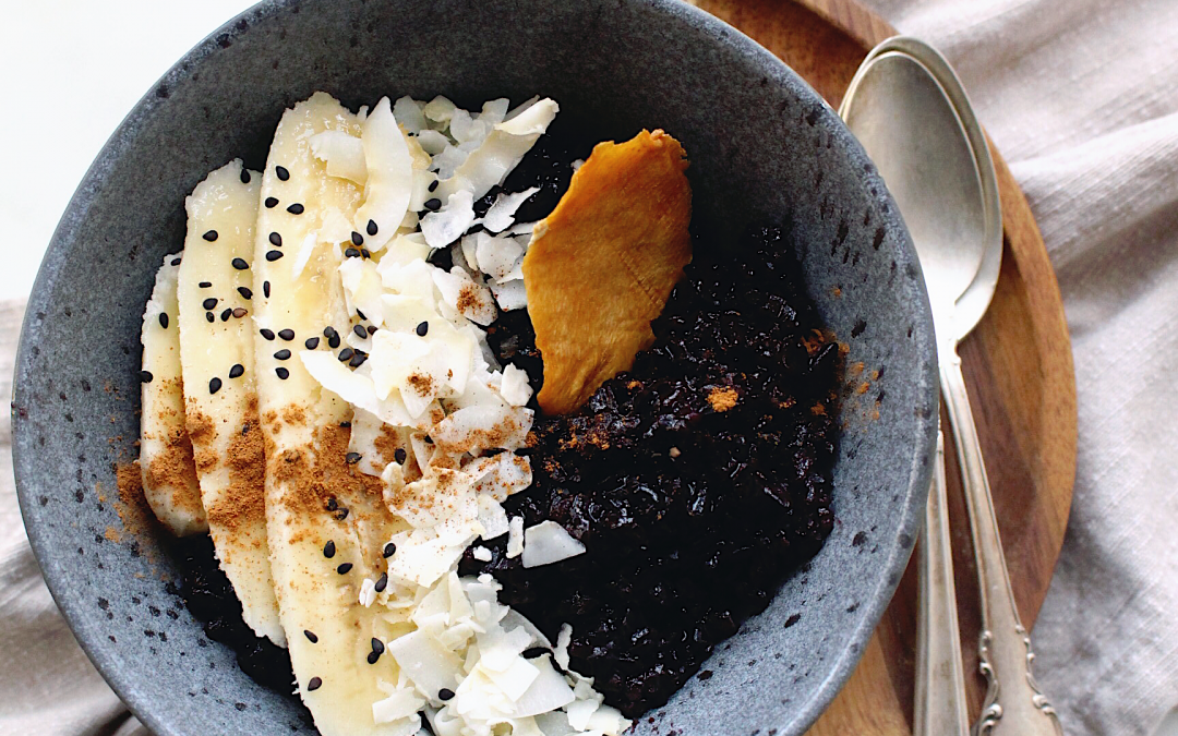 Coconut Black Rice Porridge