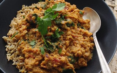 Red Lentil Dhal with Coconut Milk